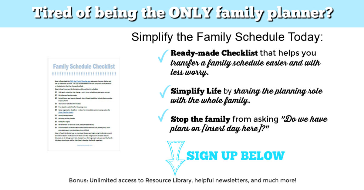 Tired Of Being The Only Family Planner