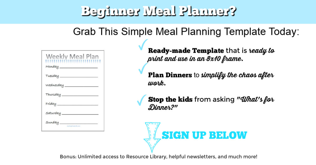 simple meal plans for the week